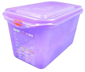 Allergen Colour Coded Purple Food Container - 1/4GN 4.3 Ltr