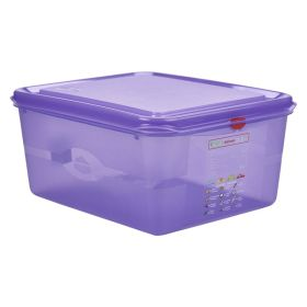 Purple Allergen Storage Container 1/2GN  150mm Deep 10L