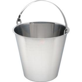 Swedish Stainless Steel  Bucket 10 Litre Graduated - Genware
