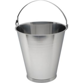 Stainless Steel Swedish Skirted Bucket 12L Graduated - Genware