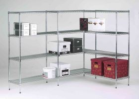 Livewire Chrome Shelving - 450mm Deep
