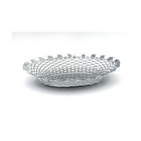 "Stainless Steel Oval Basket 11.3/4""X9.1/4"" - Genware"