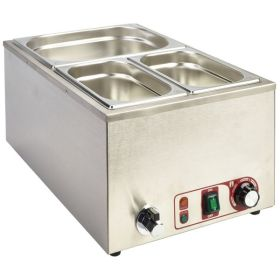 Bain Marie  Full Size 1/1 GN With Tap 1.2Kw - Genware