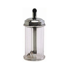 Clear Plastic Sugar Pourer With Stainless Steel Top - Genware