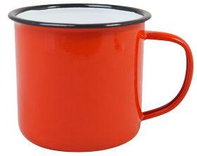 Enamel Mug Red 9cm Dia 360ml