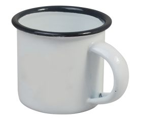 Enamel Espresso Cup Grey & White 5cm Diameter