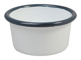 Enamel Ramekin with Grey Rim - 9cm (Dia)