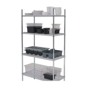 "4 Tier Rack 60""X18""X72"" (2 Boxes) - Genware"