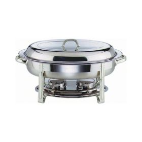 Genware 22761 - Oval Chafing Dish - 5 Litre