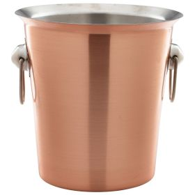 Genware Copper Wine Bucket With Ring Handles