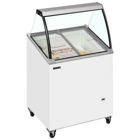 Tefcold IC200SCE Canopy Ice Cream Display Freezer - 4 Tubs