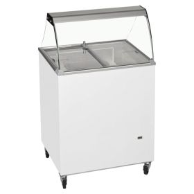 Tefcold ICB200SC Canopy Ice Cream Display Freezer - 4  Tubs / Napoli Pans