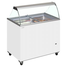 Tefcold IC400SC Canopy Ice Cream Display Freezer - 10  Tubs / Napoli Pans