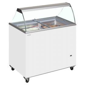 Tefcold IC500SC Canopy Ice Cream Display Freezer - 12  Tubs / Napoli Pans