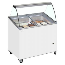 Tefcold IC300SCE Canopy Ice Cream Display Freezer - 7 Tubs