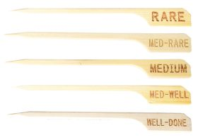 Bamboo Meat / Steak Skewers 9cm - Medium Rare - Pack of 100