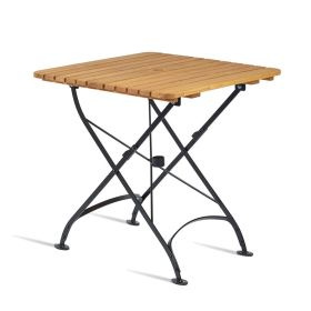 ARCH Square Folding Table Wood Top Outdoor – 70cm x 70cm – ZA.101CT