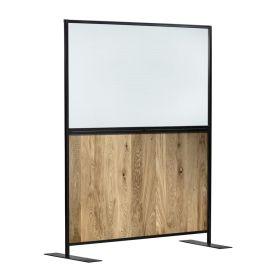 Zap 1500 AURA Protective Screen – Clear Purespex & Character Oak W1500mm