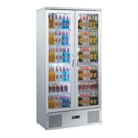 Blizzard BAR20SS - Double Door Bottle Cooler 417L Stainless Steel