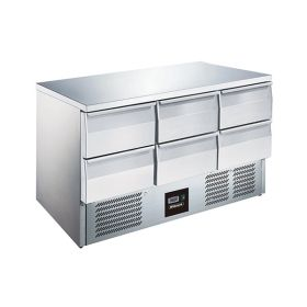 Blizzard BCC3-6D 6 Drawer Compact Gastronorm Counter 368L