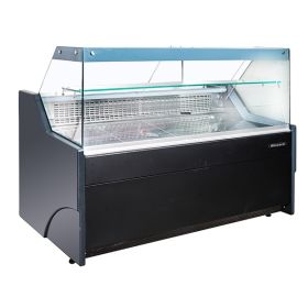 Blizzard BFG150BK - Flat Glass Serve Over Refrigerated Counter 1590W - Black