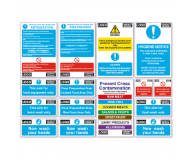 Insert Your Own Logo - Catering Health & Safety Sign Pack BKSPK