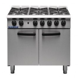 Blue Seal G750-6 SR Series Six Burner Gas Oven Range - LPG