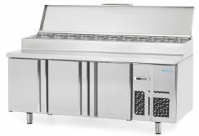 Infrico BMPP2000EN Refrigerated Prep Counter Raised Collar for Gastronorms