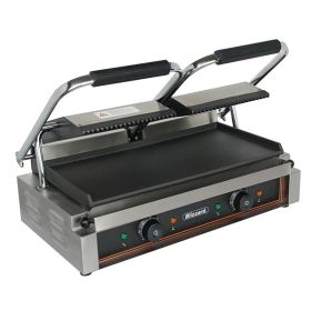 Blizzard BRSCG2 Double Contact Grill Ribbed Top Smooth Bottom 3600W