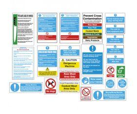 Butchers Food Hygiene & Safety Sign Pack BUTPK - 25 Signs