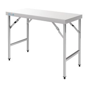 Vogue Stainless Steel Folding Table 1800mm - CB906 - 900(H) x 1800(W) x 600(D)mm