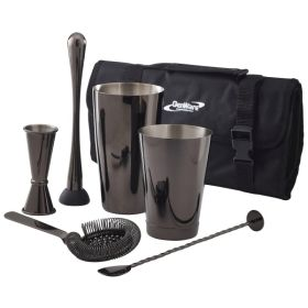 Genware Gun Metal Cocktail Bar Kit 7pcs - CBK3GM