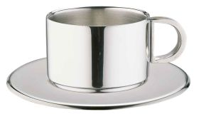 Espresso/Cappuccino Cups & Saucers - Elia CCD-10S: 4fl oz straight sided