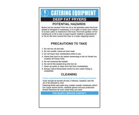 Deep Fat Fryers Catering Safety Sign - Mileta CE004