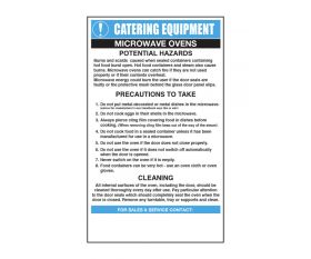 Microwave Ovens - Catering Safety Sign - Mileta CE005