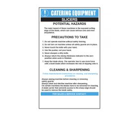 Food Slicers Catering Safety Sign - Mileta CE010