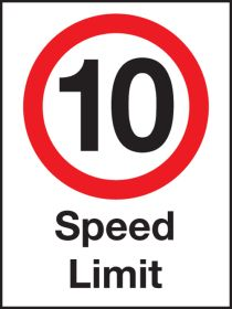 10 mph speed Limit .  600x400mm W/M