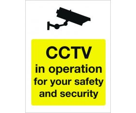 Safety Sign - CCTV in Operation for you safety and security 400x600mm