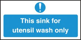 Sink for utensil wash only. 100x200mm. S/A