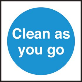 Clean as you go. 100x100mm. S/A