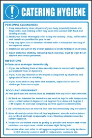 Catering hygiene notice. 300x200mm. S/A