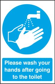 Wash your hands after going to the toilet. 300x200mm. S/A