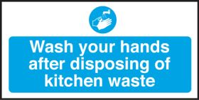 Wash hands after disposing waste. 100x200mm S/A