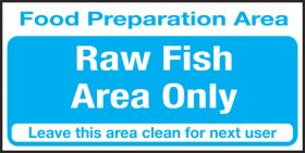 Food prep area . Raw fish area only. 100x200mm S/A