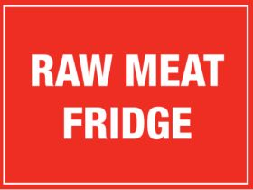 Raw Meat Fridge. 150x200mm. Self Adhesive Vinyl