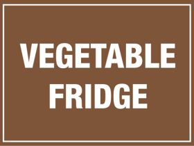 Vegetable Fridge. 150x200mm. Self Adhesive Vinyl