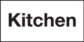 """KITCHEN"" catering door sign. 100x200mm. S/A"