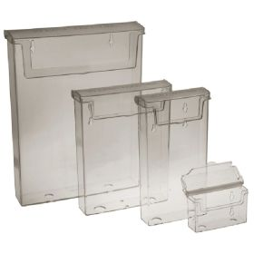 1/3 A4 Exterior Leaflet Dispenser with lid