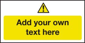Hazard & Warning - Create Your Own Catering Sign - Add Your Own Text 100x200mm