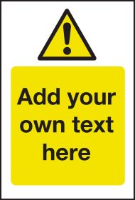 Hazard & Warning - Create Your Own Catering Sign - Add Your Own Text 300x200mm